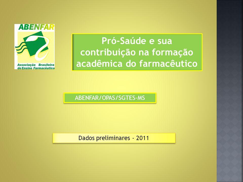 Pró-Saúde e sua contribuição na formação acadêmica do farmacêutico