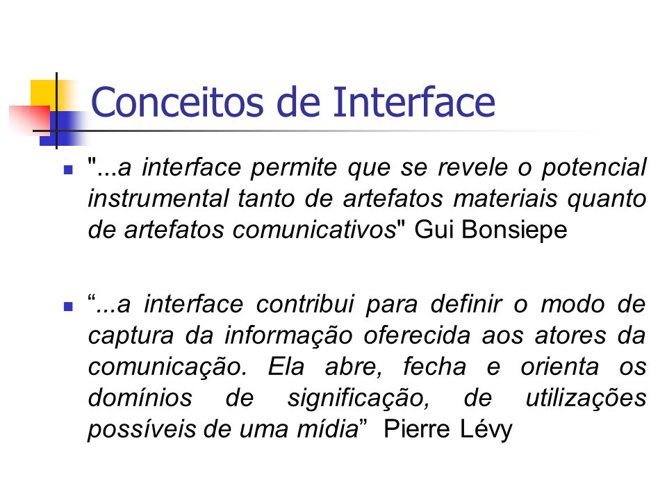 Conceitos de Interface