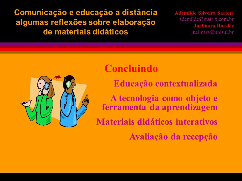 Concluindo Educação contextualizada