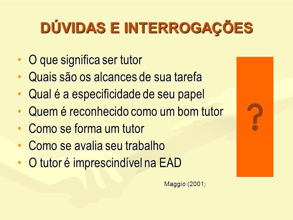 DÚVIDAS E INTERROGAÇÕES