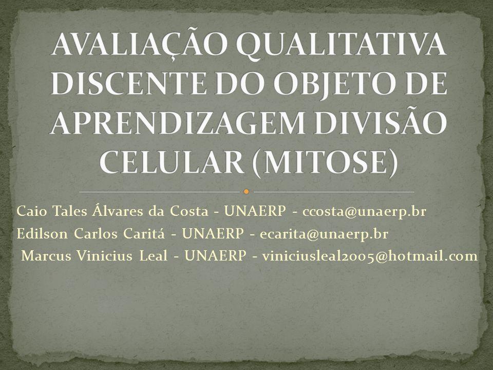 AVALIAÇÃO QUALITATIVA DISCENTE DO OBJETO DE APRENDIZAGEM DIVISÃO CELULAR (MITOSE)