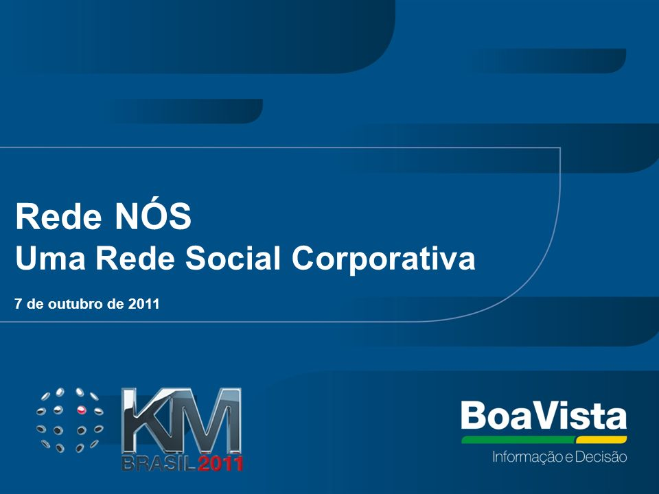 Rede NÓS Uma Rede Social Corporativa 7 de outubro de 2011