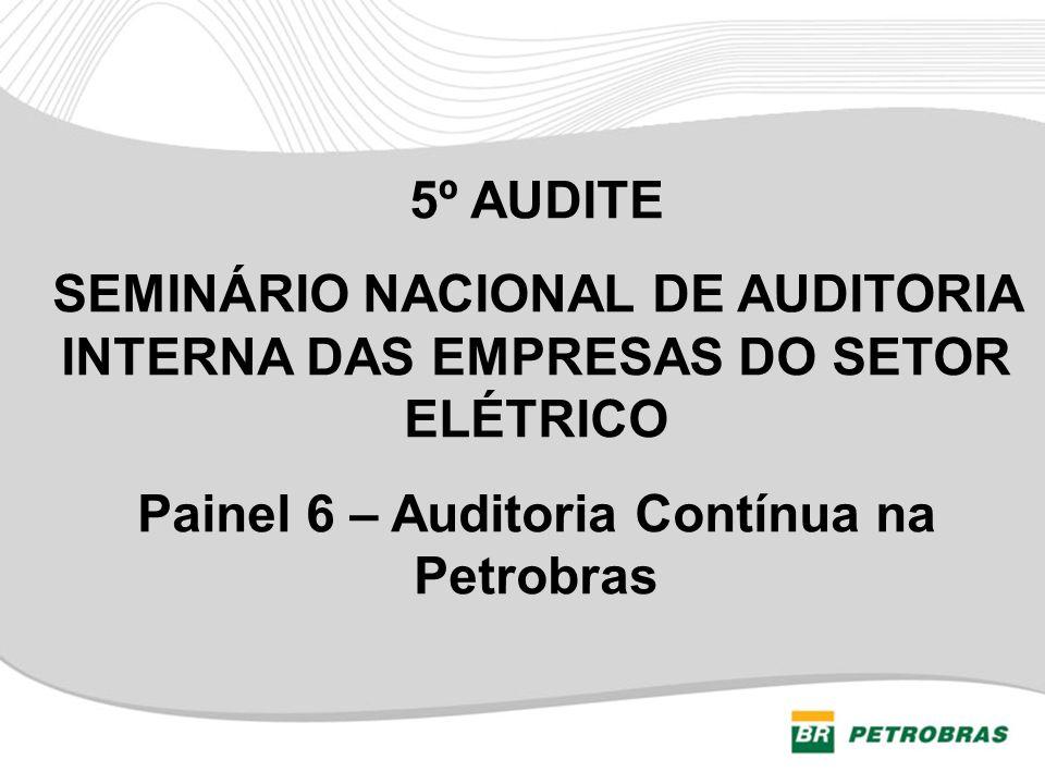 SEMINÁRIO NACIONAL DE AUDITORIA INTERNA DAS EMPRESAS DO SETOR ELÉTRICO