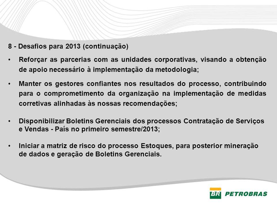 8 - Desafios para 2013 (continuação)