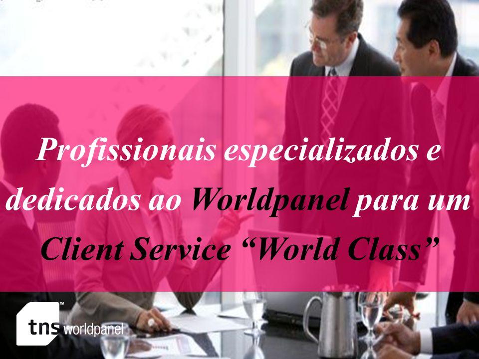 Profissionais especializados e dedicados ao Worldpanel para um Client Service World Class