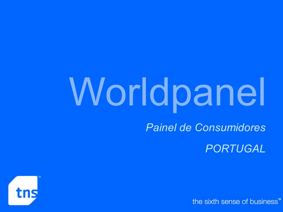Worldpanel Painel de Consumidores PORTUGAL Who is TNS