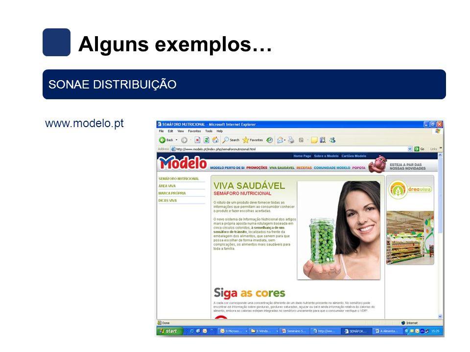 Alguns exemplos… SONAE DISTRIBUIÇÃO www.modelo.pt