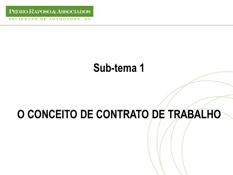 O CONCEITO DE CONTRATO DE TRABALHO