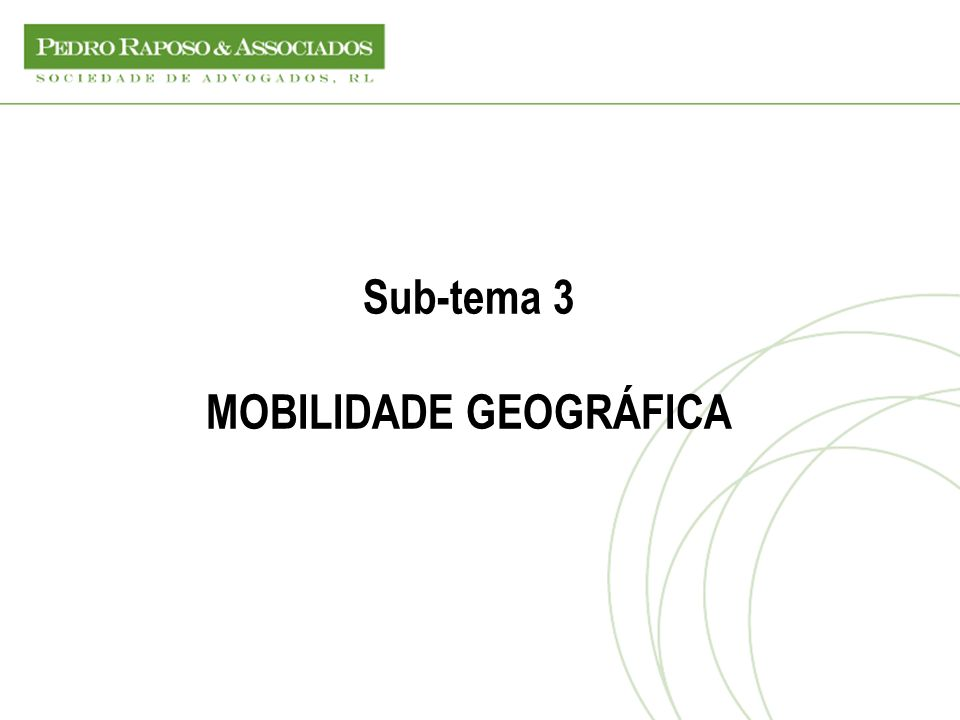 MOBILIDADE GEOGRÁFICA