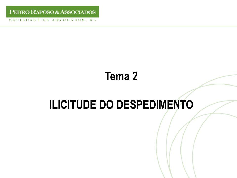 ILICITUDE DO DESPEDIMENTO