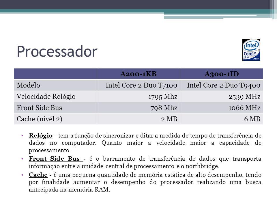 Processador A200-1KB A300-1ID Modelo Intel Core 2 Duo T7100