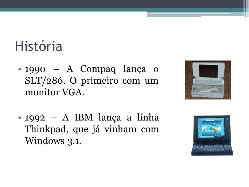 História 1990 – A Compaq lança o SLT/286. O primeiro com um monitor VGA.