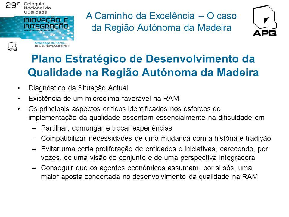Plano Estratégico de Desenvolvimento da Qualidade na Região Autónoma da Madeira