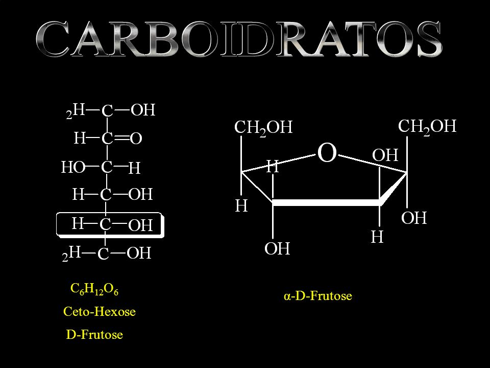 CARBOIDRATOS C6H12O6 α-D-Frutose Ceto-Hexose D-Frutose