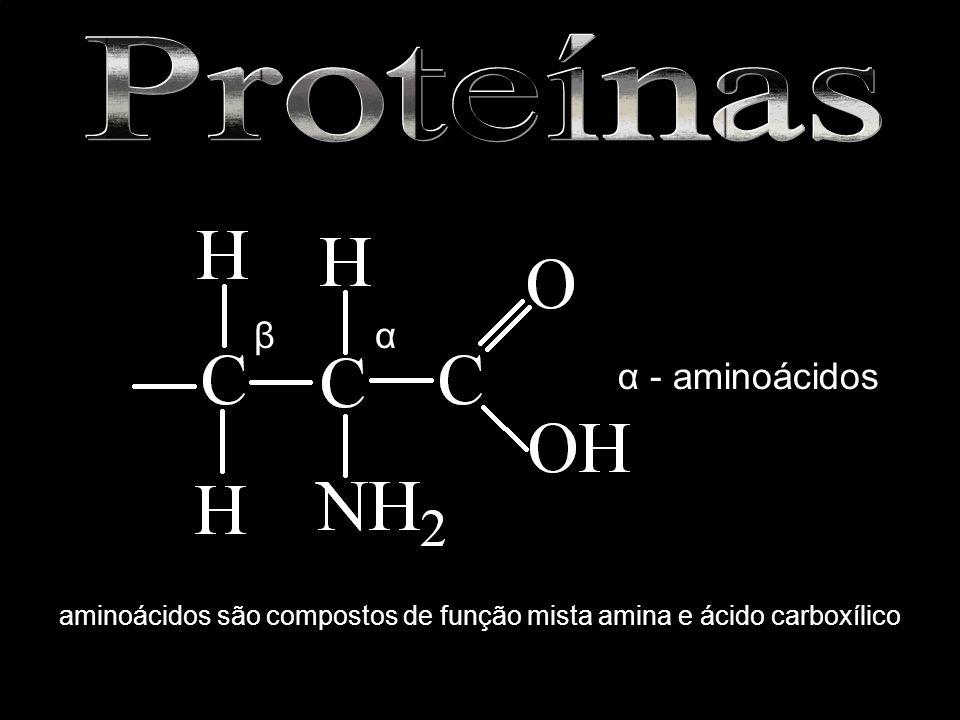 aminoácidos são compostos de função mista amina e ácido carboxílico