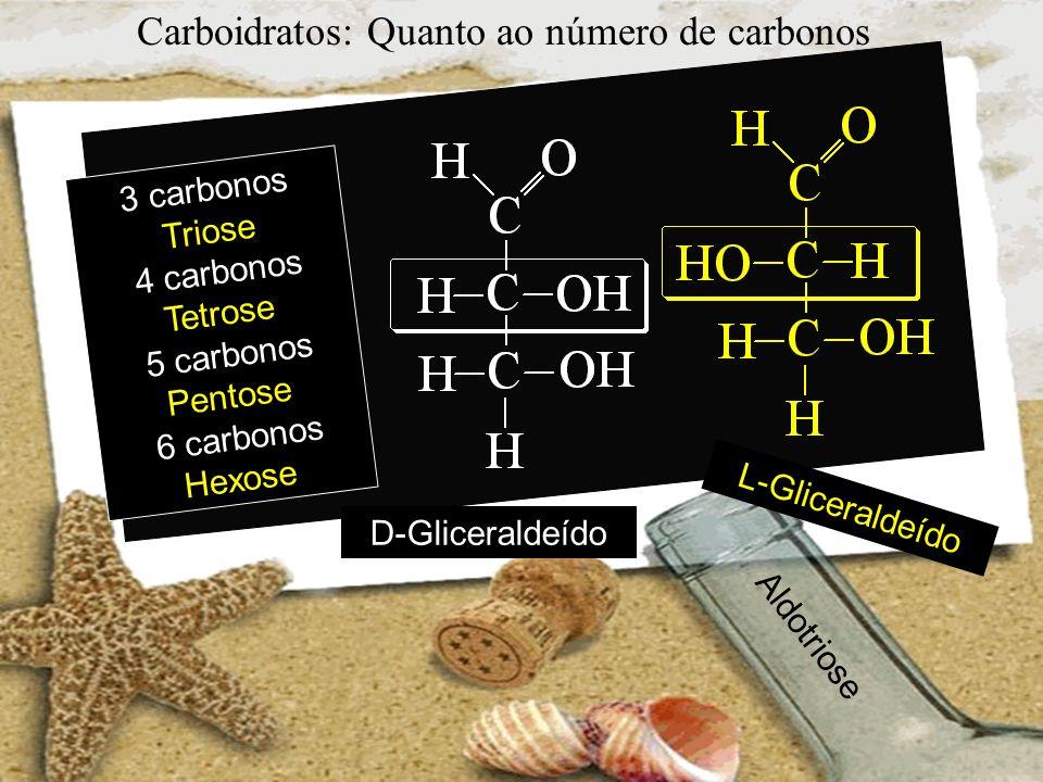 Carboidratos: Quanto ao número de carbonos