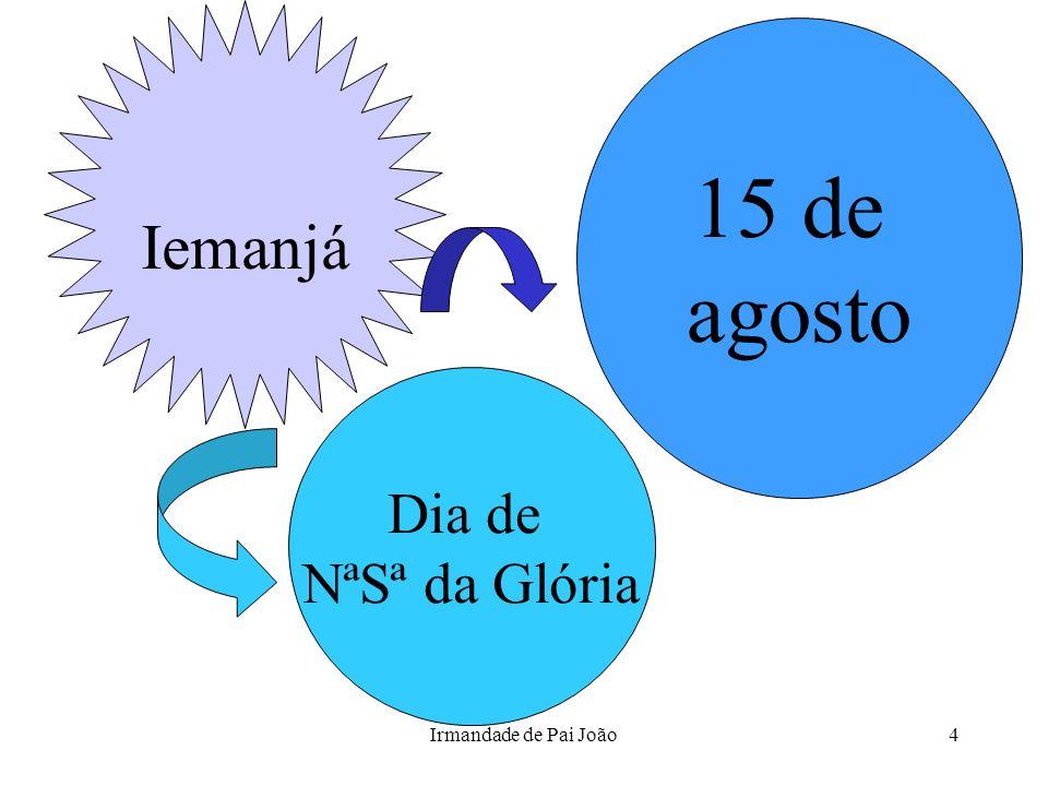 Iemanjá 15 de agosto Dia de NªSª da Glória Irmandade de Pai João