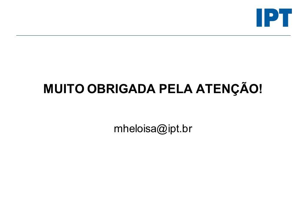 MUITO OBRIGADA PELA ATENÇÃO!
