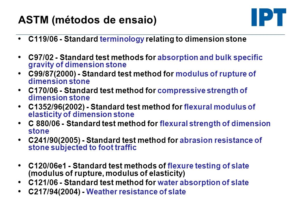 ASTM (métodos de ensaio)