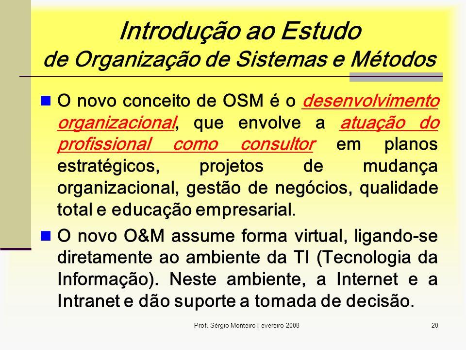 Introdução ao Estudo de Organização de Sistemas e Métodos