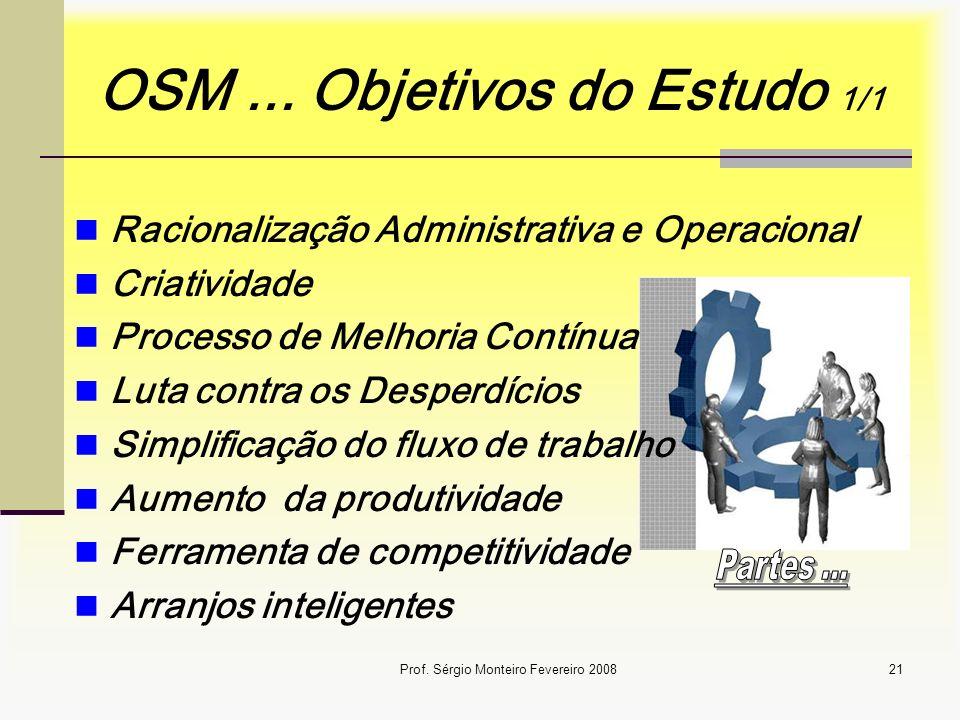 OSM ... Objetivos do Estudo 1/1