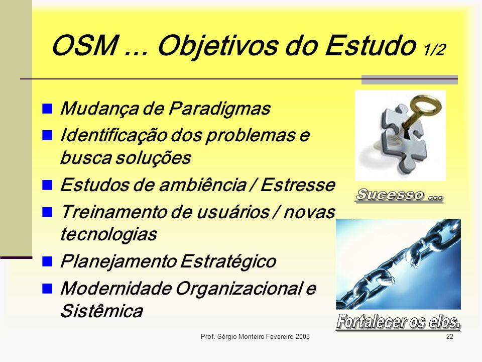 OSM ... Objetivos do Estudo 1/2
