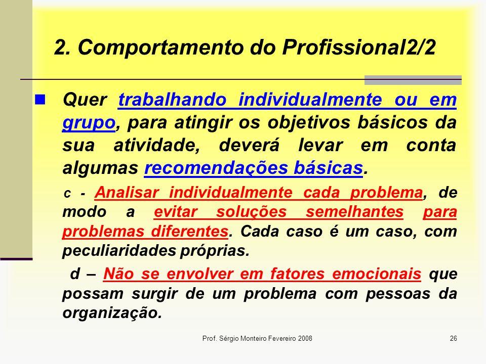 2. Comportamento do Profissional2/2