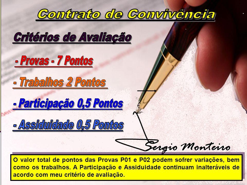 Contrato de Convivência Critérios de Avaliação