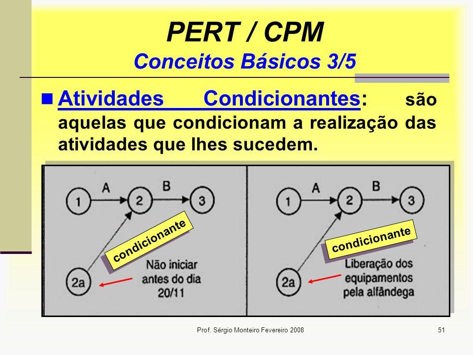 PERT / CPM Conceitos Básicos 3/5