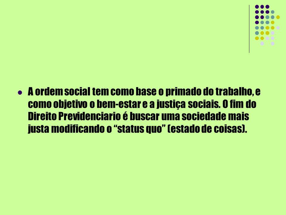 A ordem social tem como base o primado do trabalho, e como objetivo o bem-estar e a justiça sociais.
