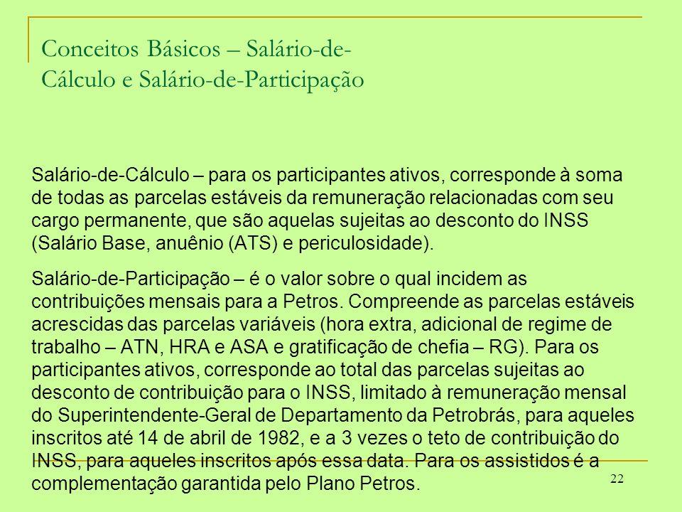 Conceitos Básicos – Salário-de- Cálculo e Salário-de-Participação