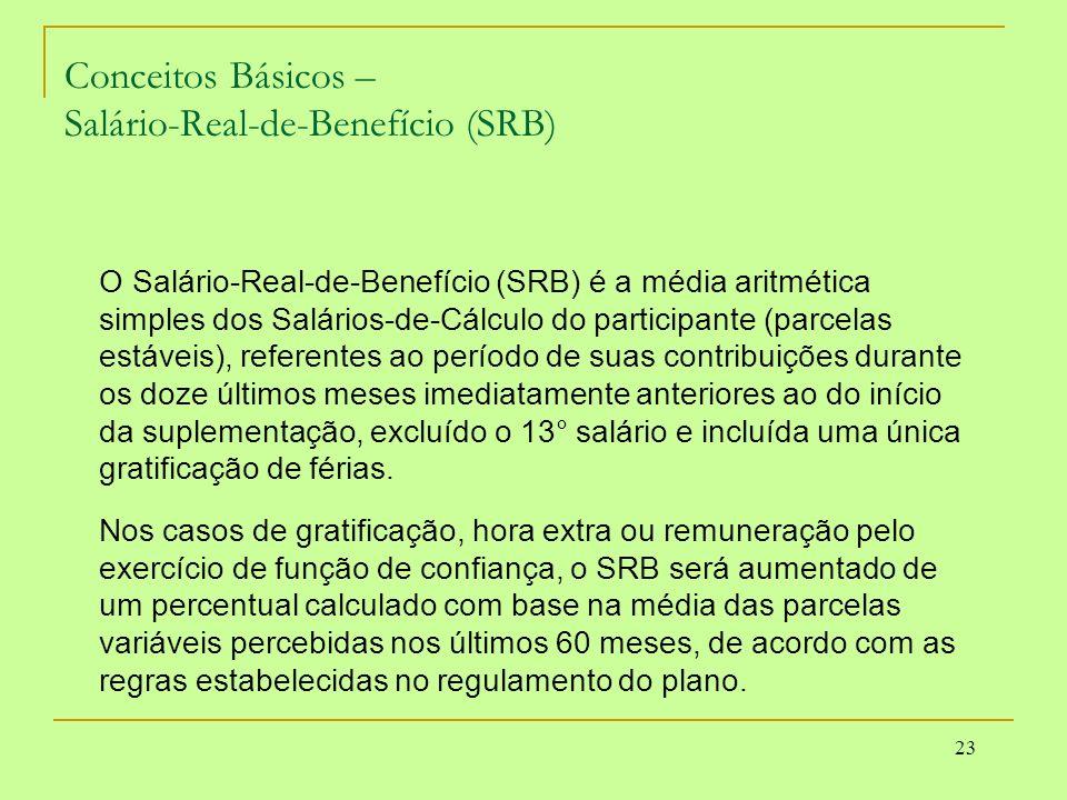 Conceitos Básicos – Salário-Real-de-Benefício (SRB)