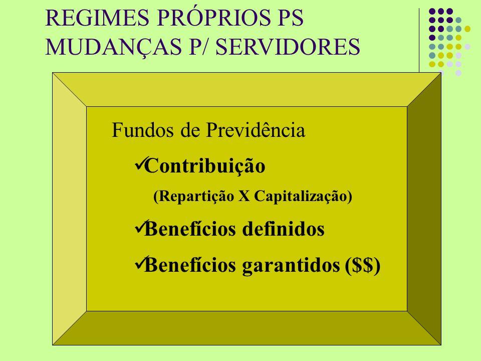 MUDANÇAS P/ SERVIDORES