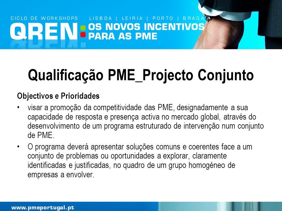 Qualificação PME_Projecto Conjunto