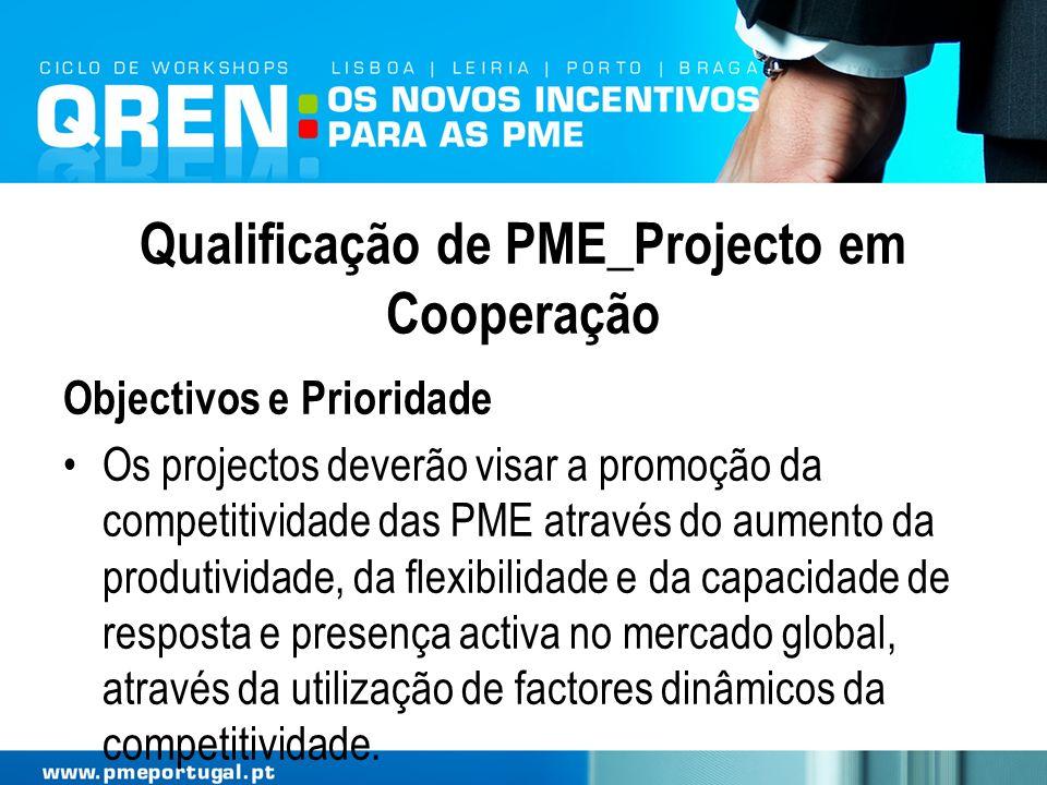 Qualificação de PME_Projecto em Cooperação