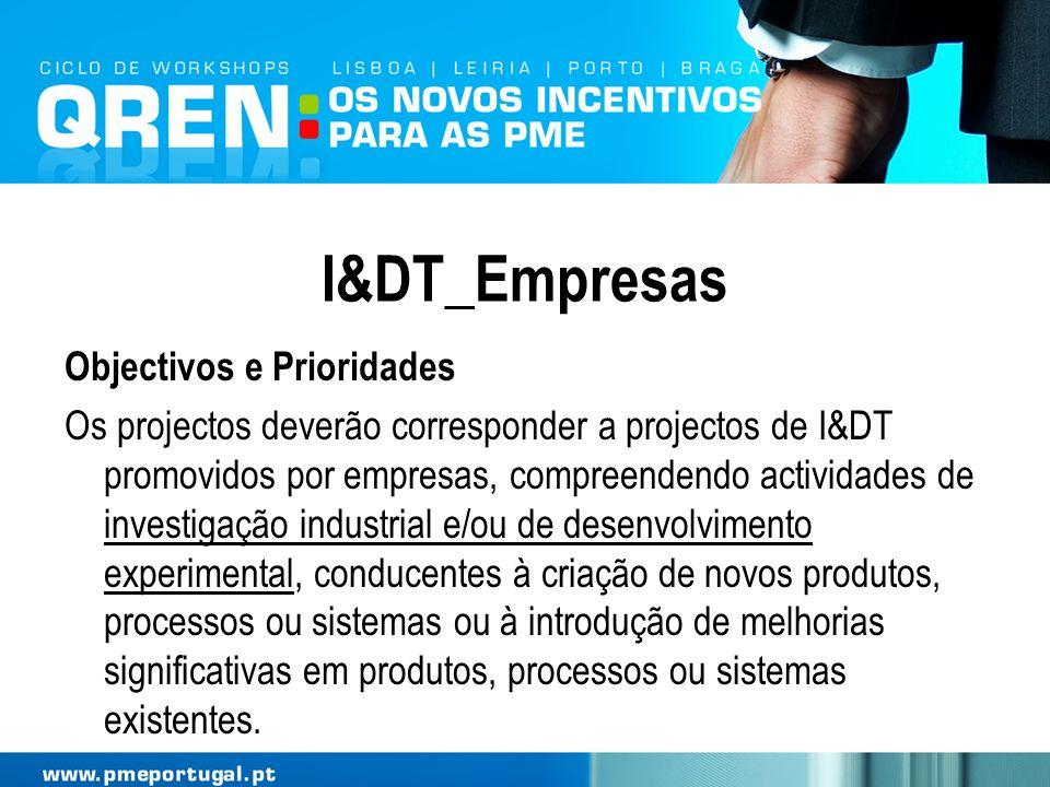I&DT_Empresas Objectivos e Prioridades
