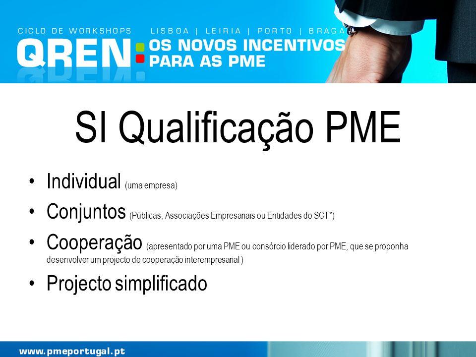 SI Qualificação PME Individual (uma empresa)