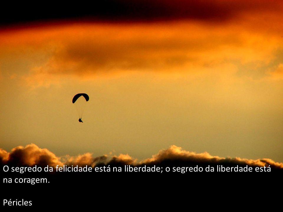 O segredo da felicidade está na liberdade; o segredo da liberdade está na coragem.