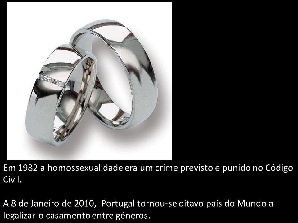 Em 1982 a homossexualidade era um crime previsto e punido no Código Civil.