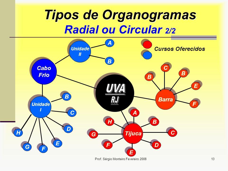 Tipos de Organogramas Radial ou Circular 2/2