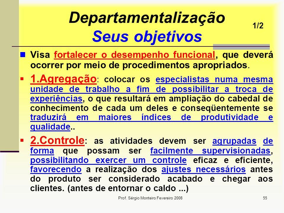 Departamentalização Seus objetivos