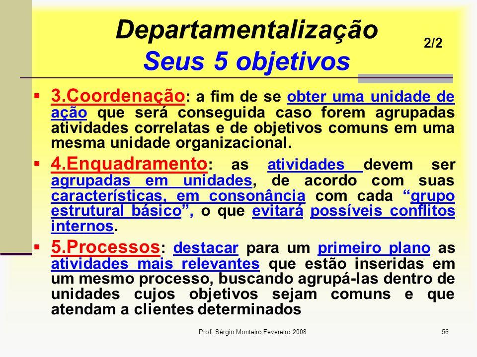 Departamentalização Seus 5 objetivos