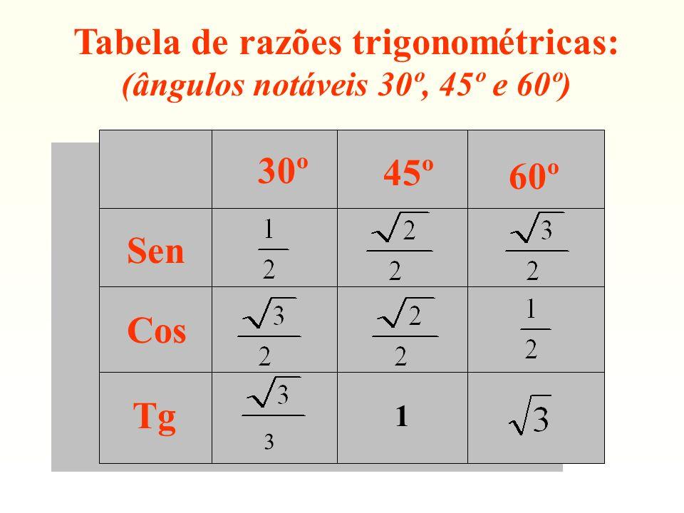 (ângulos notáveis 30º, 45º e 60º)