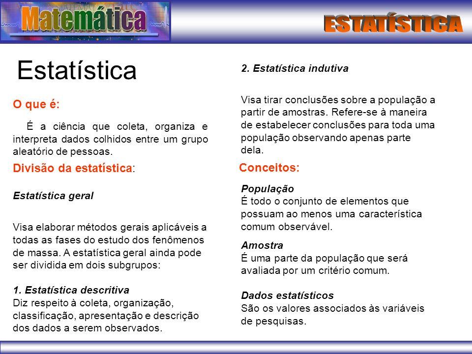 Estatística 2. Estatística indutiva.