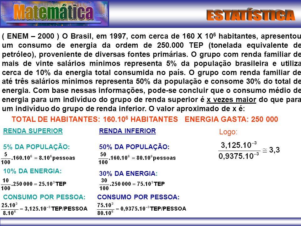 TOTAL DE HABITANTES: 160.106 HABITANTES ENERGIA GASTA: 250 000