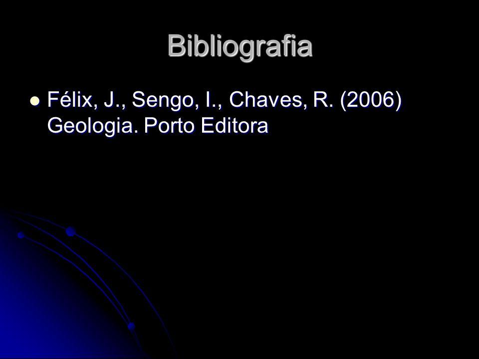 Bibliografia Félix, J., Sengo, I., Chaves, R. (2006) Geologia. Porto Editora