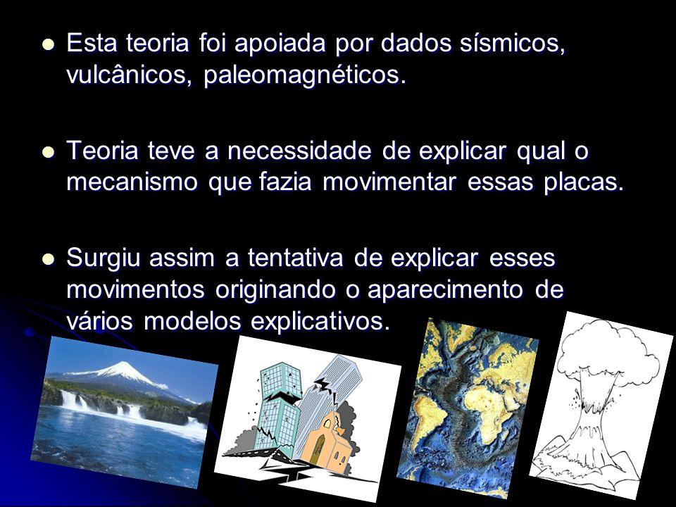 Esta teoria foi apoiada por dados sísmicos, vulcânicos, paleomagnéticos.