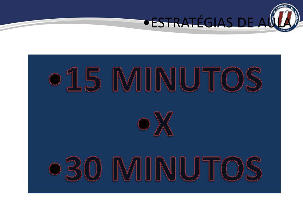 ESTRATÉGIAS DE AULA 15 MINUTOS X 30 MINUTOS