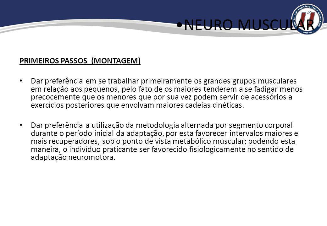 NEURO MUSCULAR PRIMEIROS PASSOS (MONTAGEM)