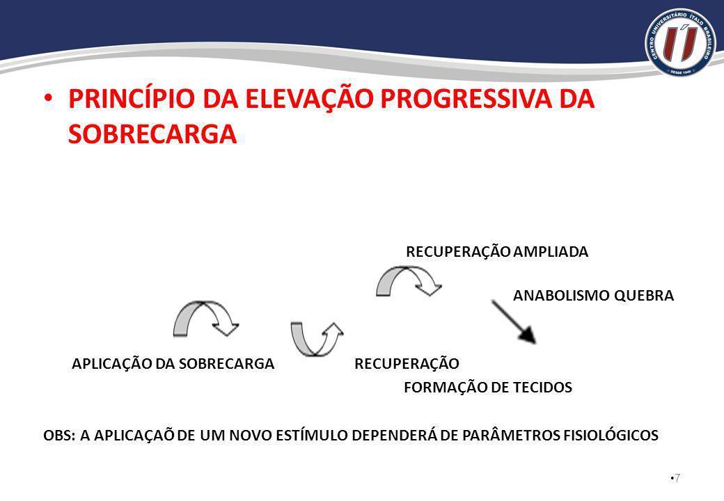 PRINCÍPIO DA ELEVAÇÃO PROGRESSIVA DA SOBRECARGA